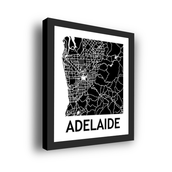11_Acrylic Black_3D Maps Template_Adelaide Framed