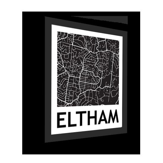 11_Acrylic Black_3D Maps Template_Eltham Framed