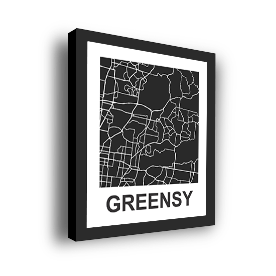 11_Acrylic Black_3D Maps Template_Greensy Framed
