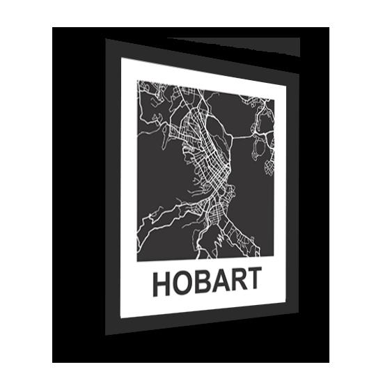 11_Acrylic Black_3D Maps Template_Hobart Framed
