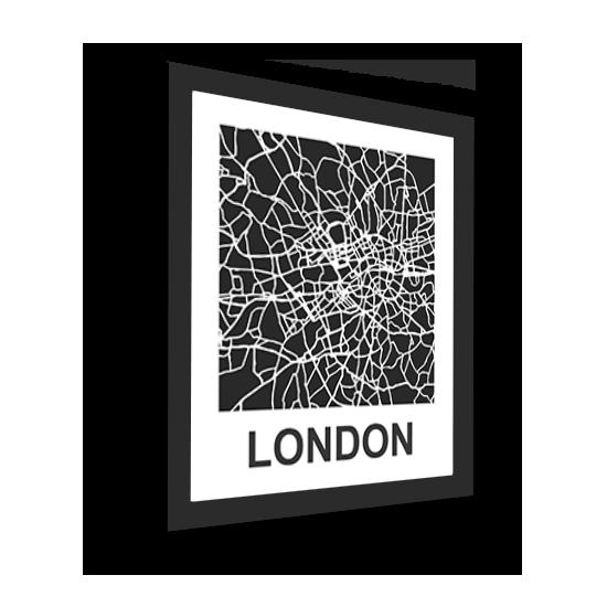 11_Acrylic Black_3D Maps Template_London Framed