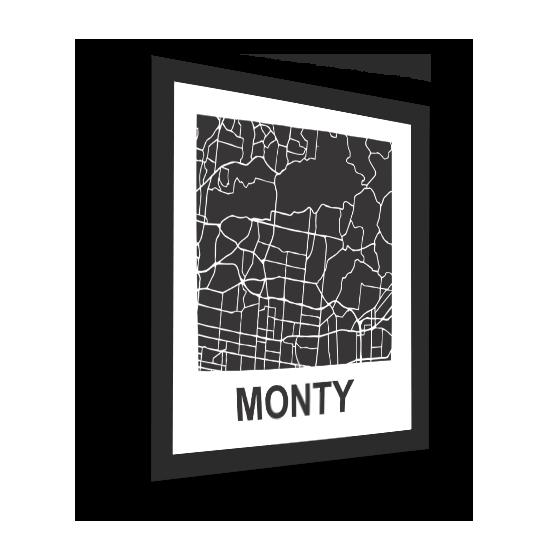 11_Acrylic Black_3D Maps Template_Monty Framed