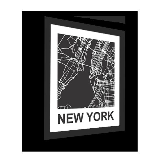 11_Acrylic Black_3D Maps Template_New York Framed