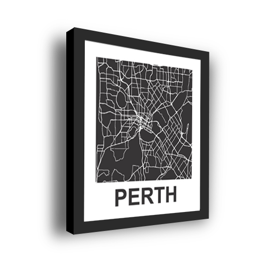 11_Acrylic Black_3D Maps Template_Perth Framed