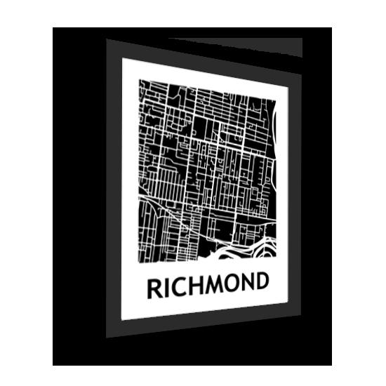 11_Acrylic Black_3D Maps Template_Richmond Framed