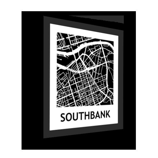 11_Acrylic Black_3D Maps Template_Southbank Framed