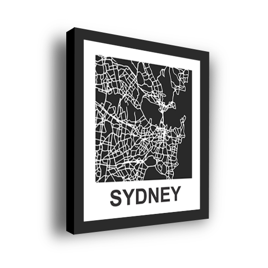 11_Acrylic Black_3D Maps Template_Sydney Framed