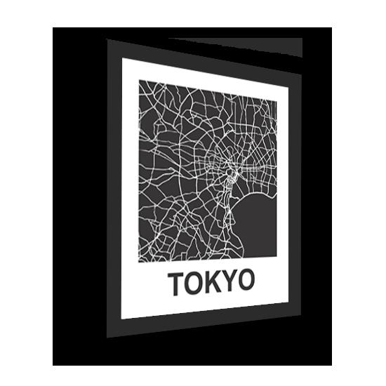 11_Acrylic Black_3D Maps Template_Tokyo Framed