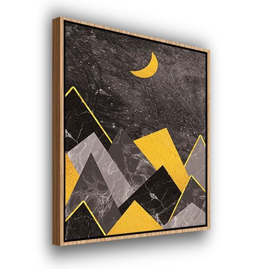 Crescent Lit Peaks - Modern Prints