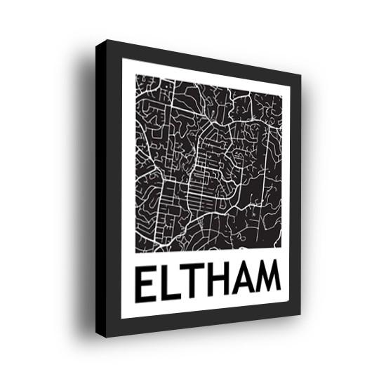 corporate art - 3D Street Map Framed 3D Street Map