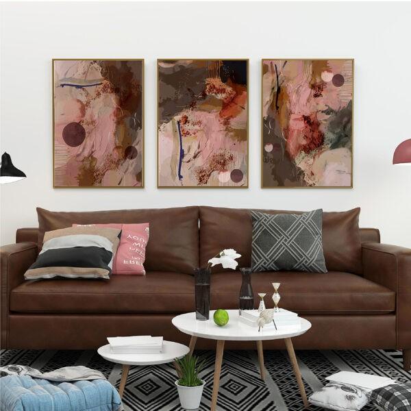 wall art above sofa